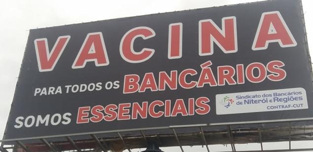 Sindicato faz campanha regional por vacinação já dos bancários