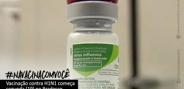 Vacinação contra a gripe H1N1 começa segunda-feira (19) para os funcionários do Bradesco